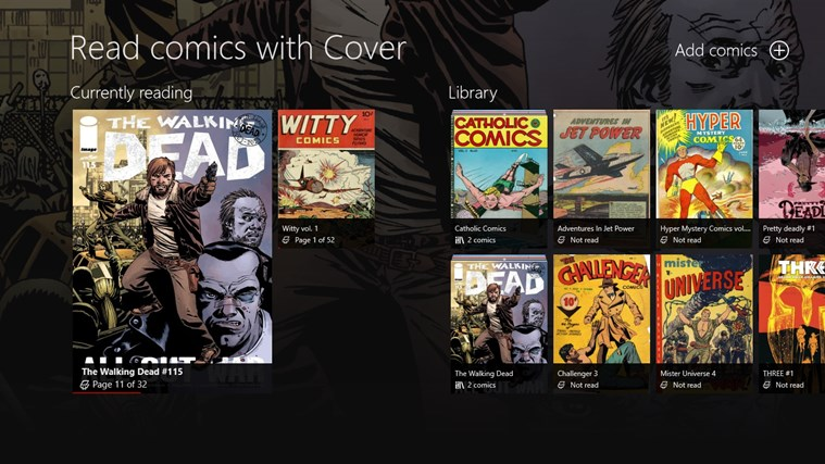 Cover - Comic reader for Windows 8 and 8 1