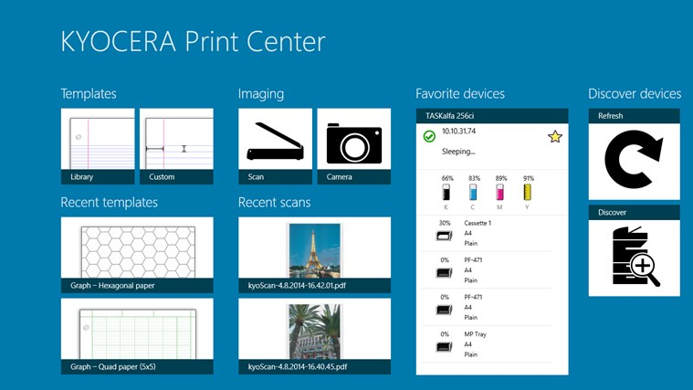 KYOCERA Print Center for Windows 8 and 8 1