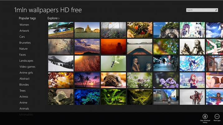 1mln Wallpapers HD Free for Windows 8
