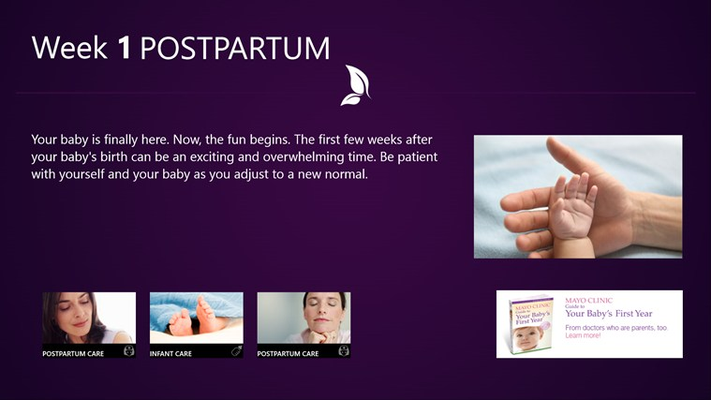 Mayo Clinic on Pregnancy for Windows 8