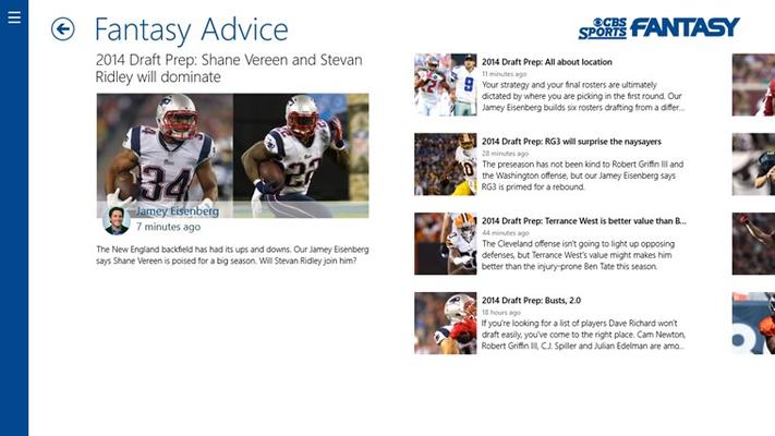 Get fantasy advice