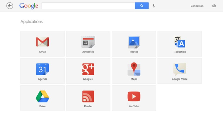 Access all your favorite Google products from within the app with just the tap of an icon.
