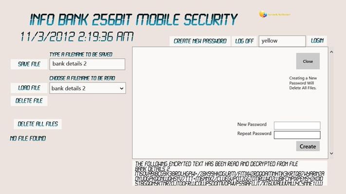 Store passwords, bank details etc etc.