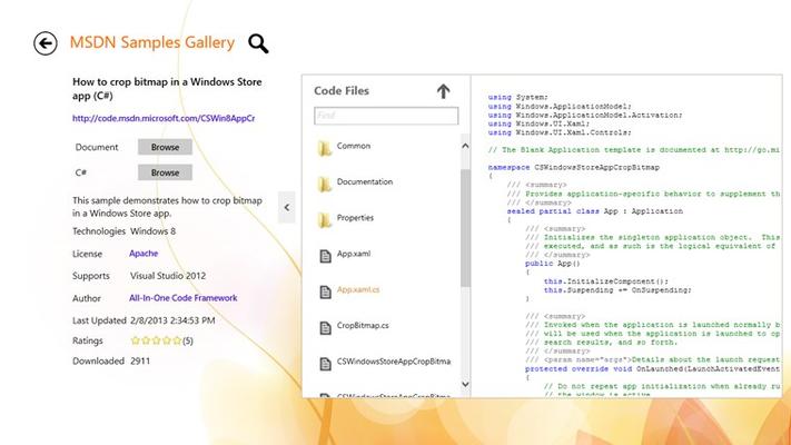 Learn the sample code