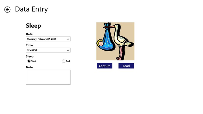 Data Entry Page