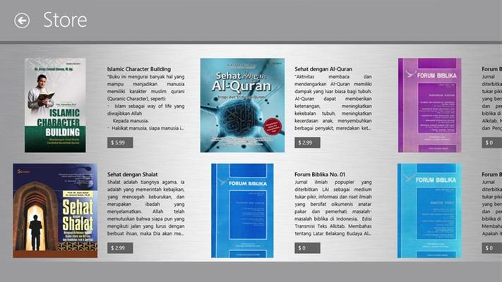 Buku-buku rohani (agama Islam dan Kristen )pun bisa di temukan di Aplikasi Toko Buku. Dapatkan bacaan yang akan menambah keimanan kita dan pengetahuan seputar Tuhan dan agama.