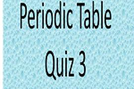 Periodic Table Challenge 3