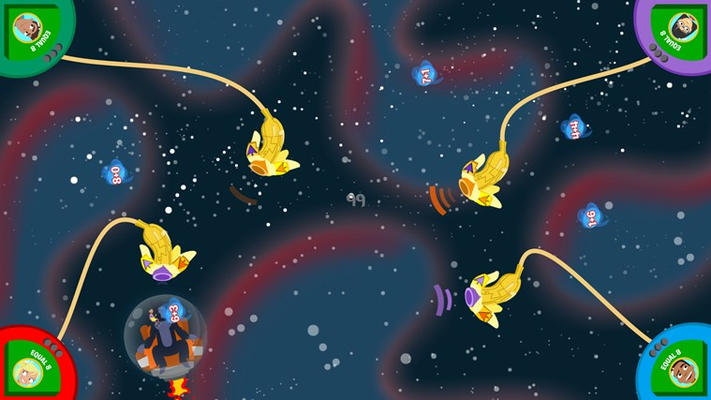 Use your banana blasters to help Paul and Jessica collect all the number-balls!