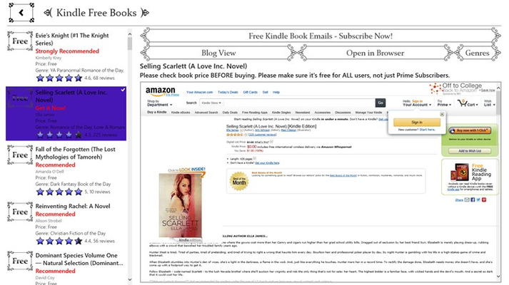 Free Kindle Books part of the Kindle Books App
