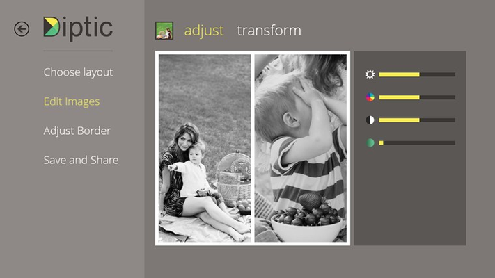 Adjust the image's brightness, contrast, hue and color saturation.