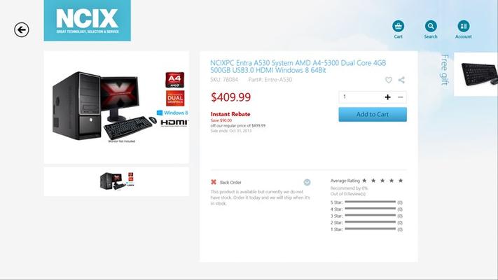NCIX.com for Windows 8