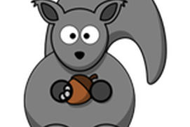 Hungry bears eats running squirrel