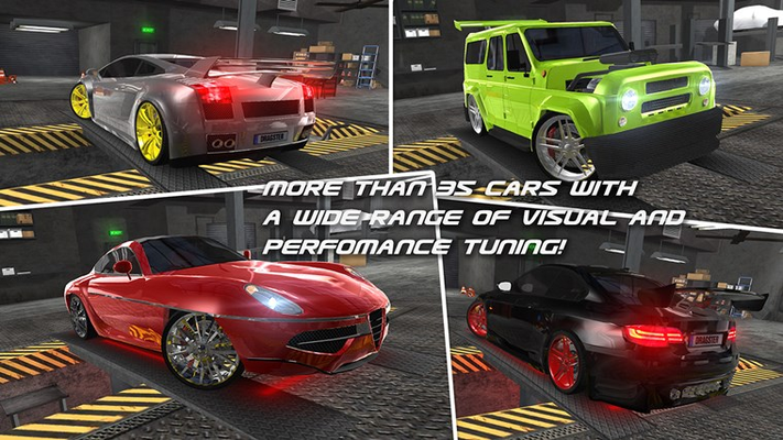 MORE THAN 35 CARS WITH A WIDE RANGE OF VISUAL AND PERFOMANCE TUNING!