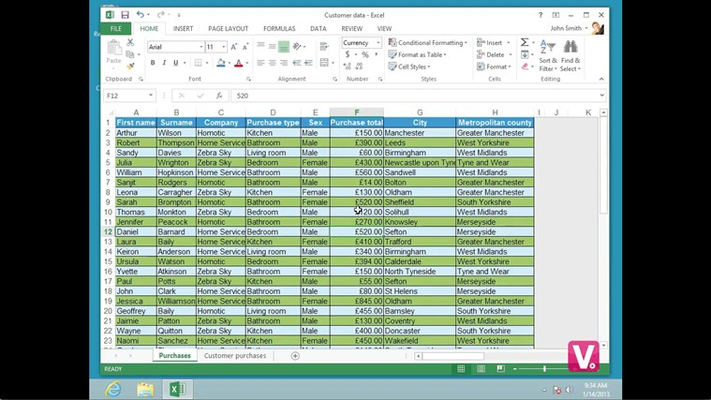 Optimized full-screen training