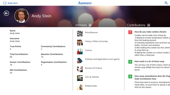 Answers.com for Windows 8