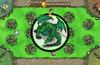 A dragon burns villagers
