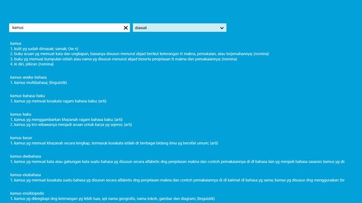 Kamus Indonesia for Windows 8