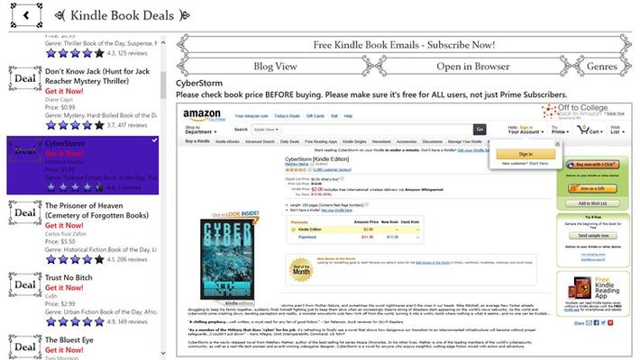 Kindle Book Deals Part of Kindle Books