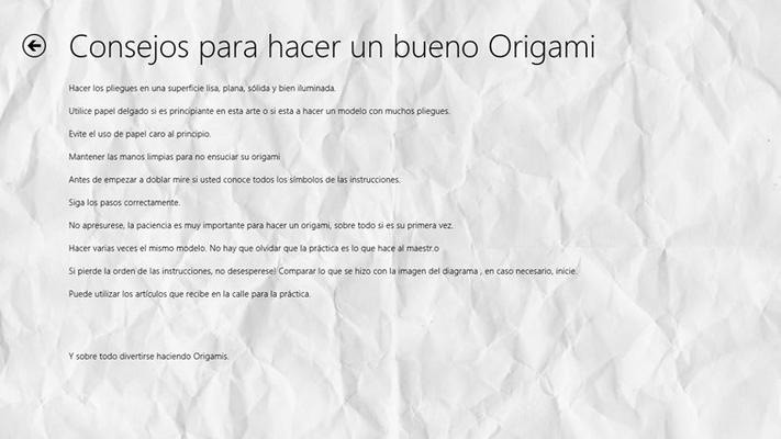 Te aconsejamos para tener una mejor técnica para los Origamis.