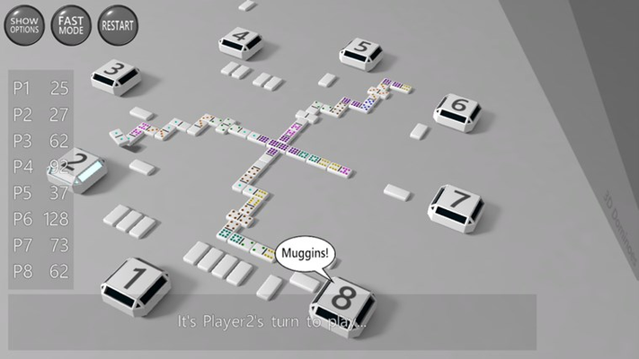 Play against up to 7 opponents and with up to 55 tiles (double 9 set)!