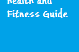 Health and fitness Guide