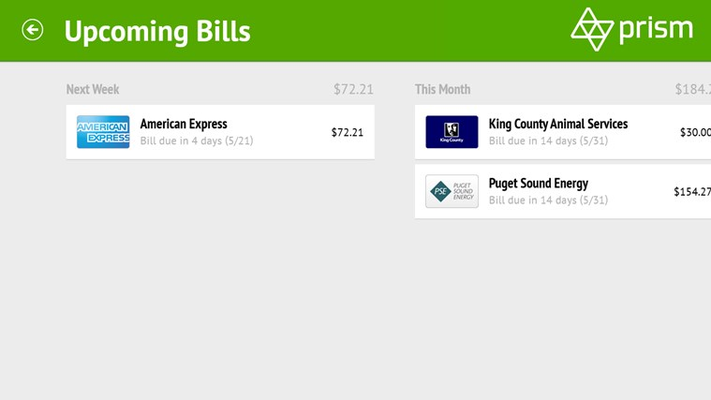 See which bills are coming up soon.