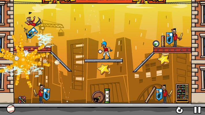 Use destructible environments, movable items and even explosive Explodz crates to trigger chain reactions and mayhem!