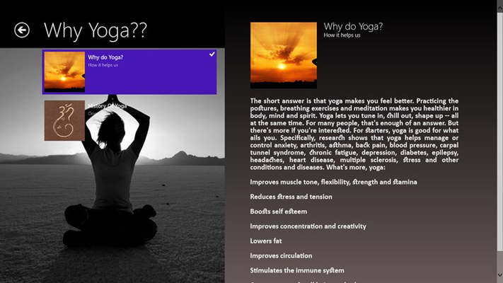 Why Yoga page