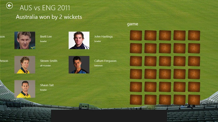 Play memory game based team player images.