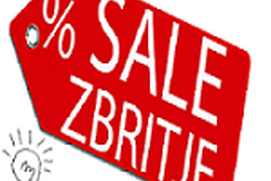 Sale % Zbritje