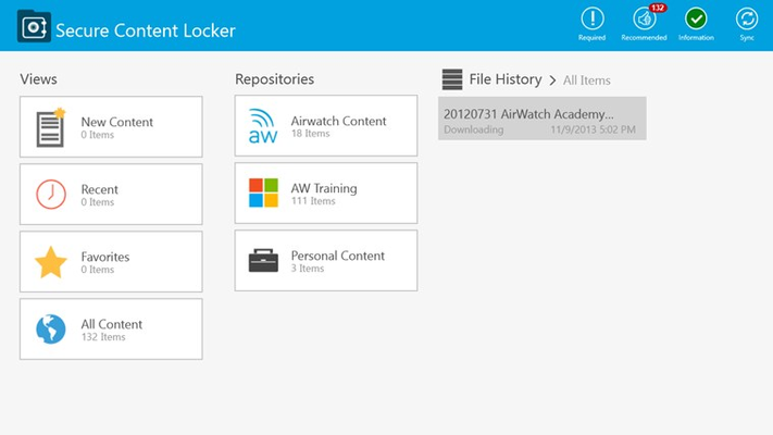 AirWatch - Content Locker for Windows 8