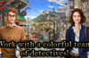 Work with a colorful team of detectives!