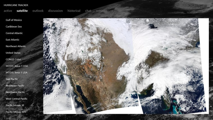 Daily MODIS composite of the United States