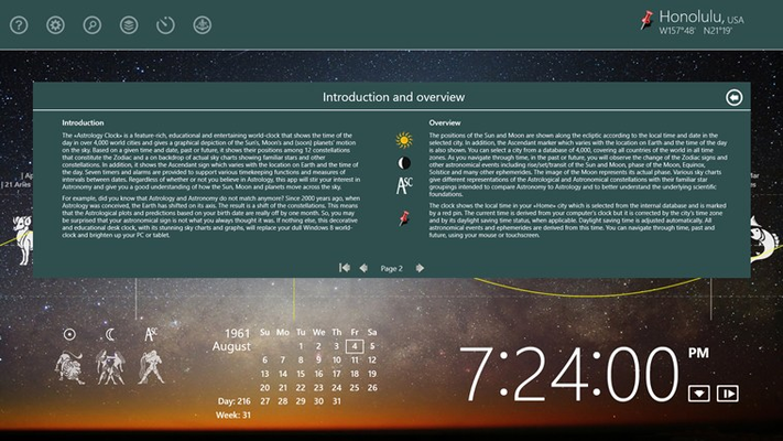 On screen user manual and science background.
