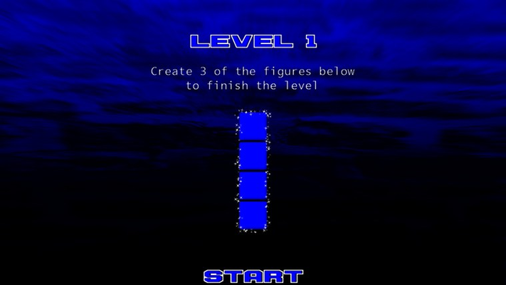 A simple target of four blue tiles stacked up.