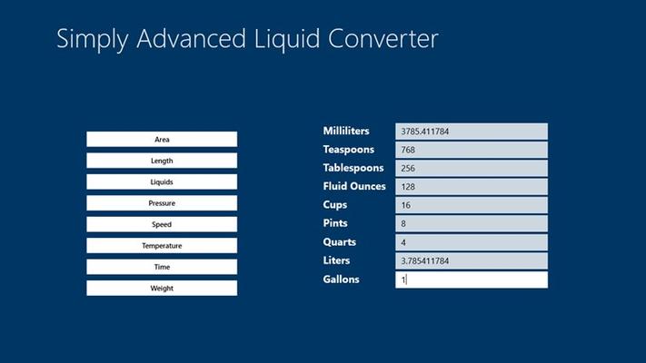 Simply Advanced Liquid Converter