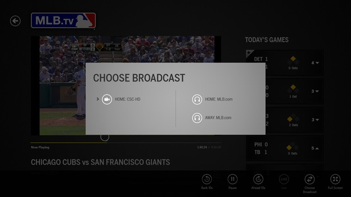 Select Your Broadcast