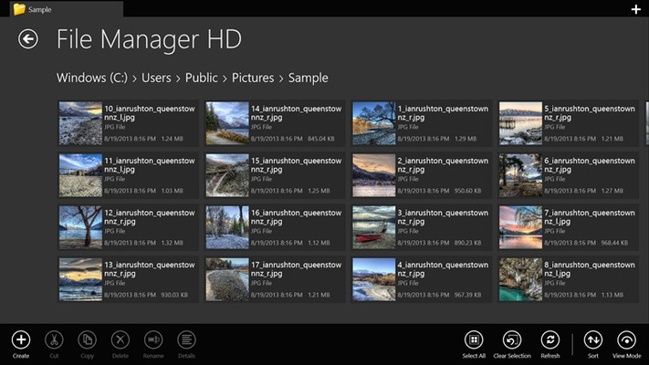 File Details View Mode with Thumbnails
