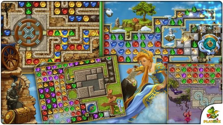 64 unique Match-3 levels + 48 unique bonus levels