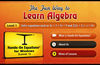 More than a million students, beginning in grade 3, have used the physical version of this app. No prior work with algebra is assumed.
