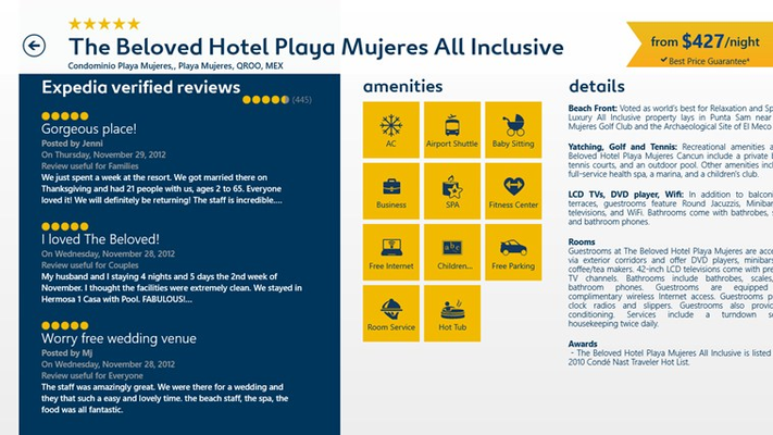 Millions of reviews from verified Expedia travelers
