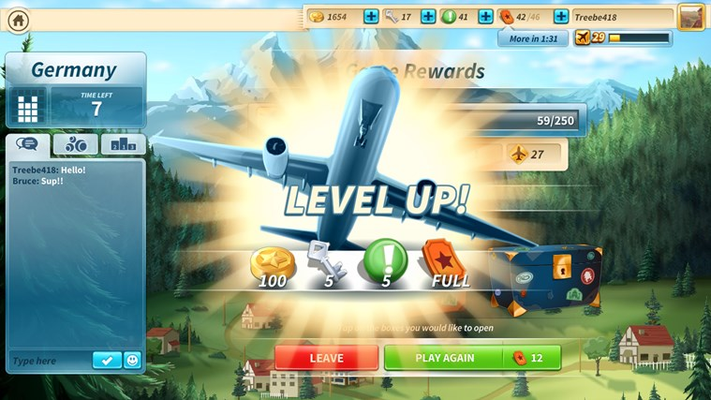 Earn Flight Points by daubing numbers and calling Bingos!