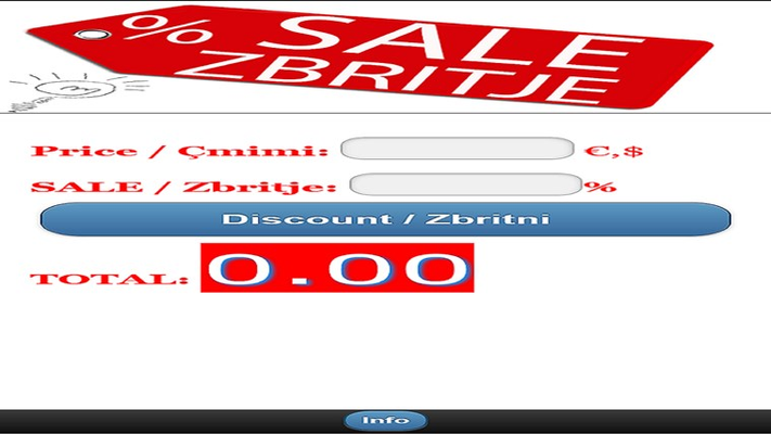 Sale % Zbritje for Windows 8