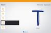 Menulis bagian untuk abjad dalam mode horizontal.