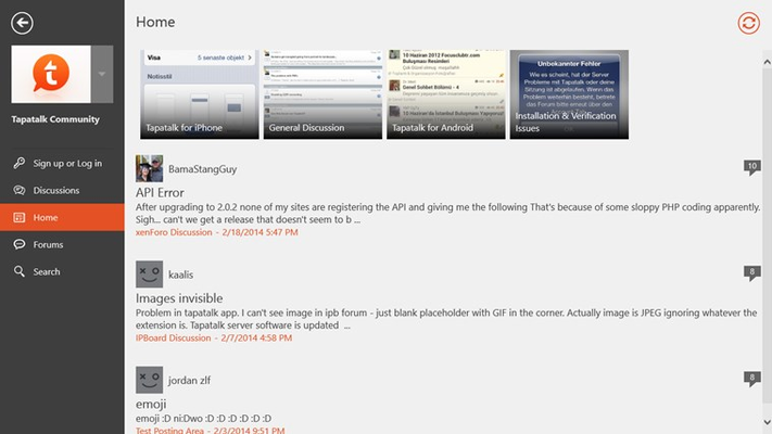 Manage all your forums from a centralized screen