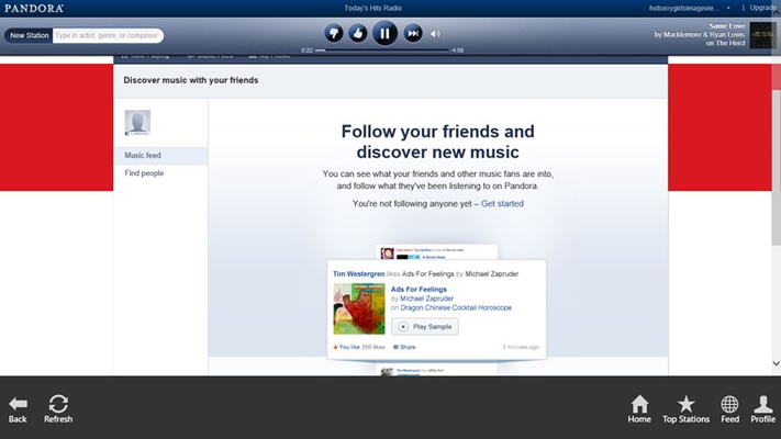 Discover new music through your friend's feeds