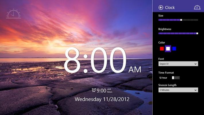 Adjust the clock size, brightness, color and font.