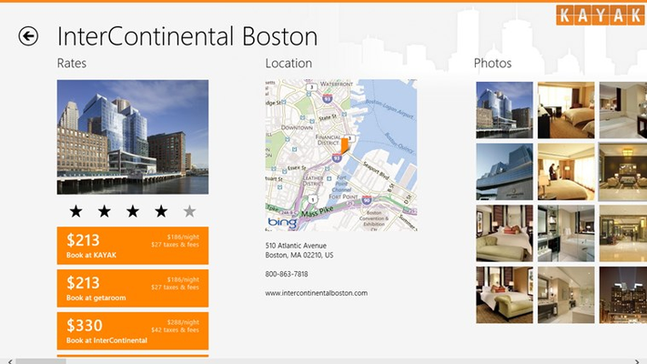 KAYAK Flights & Hotels for Windows 8