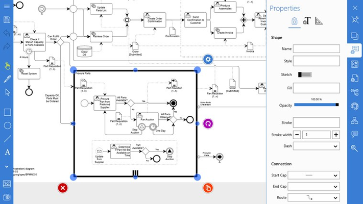 Grapholite - Diagrams, Flow Charts and Floor Plans Designer for Windows 8