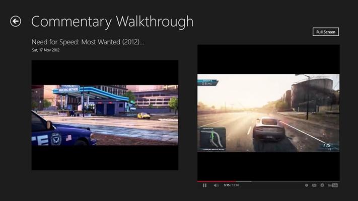 minimized video view